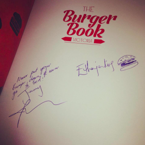 signed burger book